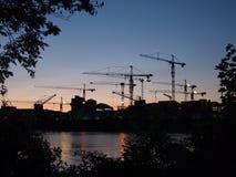 Γερανοί κατασκευής Στοκ Εικόνα