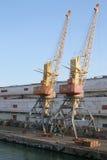 Γερανοί φορτίου στο θαλάσσιο λιμένα Στοκ εικόνα με δικαίωμα ελεύθερης χρήσης