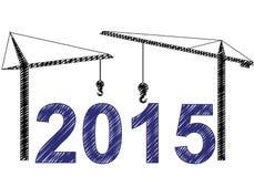 2015 γερανοί Στοκ Εικόνες