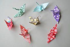 Γερανοί Origami - σπιτική ποικιλία Στοκ εικόνες με δικαίωμα ελεύθερης χρήσης