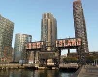 Γερανός αποβαθρών στο Long Island Στοκ Εικόνα