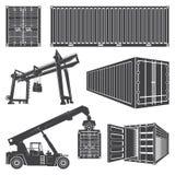 Γερανός ατσάλινων σκελετών φορτωτών εμπορευματοκιβωτίων Στοκ εικόνες με δικαίωμα ελεύθερης χρήσης