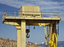 γερανός κίτρινος Στοκ φωτογραφία με δικαίωμα ελεύθερης χρήσης