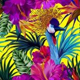 Γερανός και λουλούδια Στοκ εικόνα με δικαίωμα ελεύθερης χρήσης