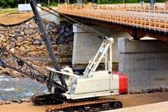 Γερανός κατασκευής γεφυρών Στοκ εικόνα με δικαίωμα ελεύθερης χρήσης
