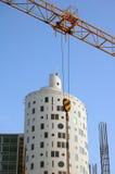 γερανός κατασκευής κίτρ&i Στοκ φωτογραφίες με δικαίωμα ελεύθερης χρήσης