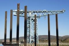 Γερανός ναυπηγικής στο λιμένα λιμενικών λιμανιών για την κατασκευή των σκαφών στον τιτάνα clydebank govan Γλασκώβη Σκωτία UK αποβ στοκ φωτογραφία με δικαίωμα ελεύθερης χρήσης
