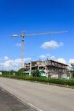 Γερανός σε μια κατασκευή Στοκ Φωτογραφίες