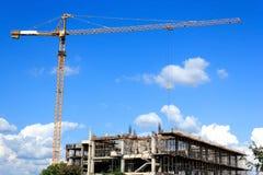 Γερανός σε μια κατασκευή Στοκ Φωτογραφία