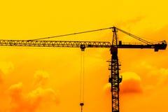 Γερανός στο εργοτάξιο οικοδομής Στοκ φωτογραφία με δικαίωμα ελεύθερης χρήσης