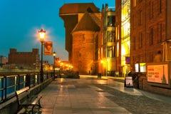 Γερανός τη νύχτα Στοκ φωτογραφία με δικαίωμα ελεύθερης χρήσης