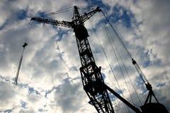 γερανός 2 κατασκευής Στοκ φωτογραφία με δικαίωμα ελεύθερης χρήσης