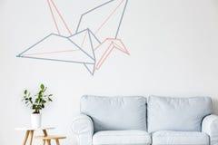 Γερανός Origami γραφικός Στοκ Φωτογραφία
