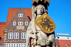 Γερμανία Άγαλμα του Roland στο τετράγωνο αγοράς στη Βρέμη 14 Φεβρουαρίου 2018 στοκ εικόνα με δικαίωμα ελεύθερης χρήσης