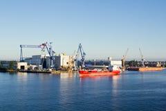 Γερμανία, Warnemuende, λιμάνι Στοκ φωτογραφία με δικαίωμα ελεύθερης χρήσης