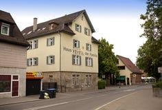 ΓΕΡΜΑΝΙΑ - 29 Μαΐου 2012: Το Nurtingen, οδός είναι μια πόλη στη νότια Γερμανία Βρίσκεται στον ποταμό Neckar Στοκ Εικόνες