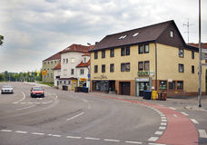 ΓΕΡΜΑΝΙΑ - 29 Μαΐου 2012: Το Nurtingen, οδός είναι μια πόλη στη νότια Γερμανία Βρίσκεται στον ποταμό Neckar Στοκ φωτογραφία με δικαίωμα ελεύθερης χρήσης