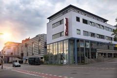 ΓΕΡΜΑΝΙΑ - 30 Μαΐου 2012: Nurtingen, η οδός σε ένα βιομηχανικό μέρος της πόλης - είναι μια κωμόπολη στη νότια Γερμανία Στοκ Εικόνα