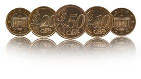 Γερμανικά ευρο- νομίσματα της Γερμανίας σεντ στοκ εικόνα