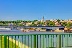 Γερμανικά κιγκλιδώματα της γέφυρας και της παλαιάς εικόνας Beograd HDR Στοκ Εικόνα