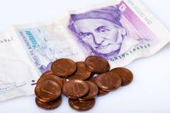 Γερμανικά μάρκα, παλαιό Δυτικογερμανικό νόμισμα Στοκ εικόνα με δικαίωμα ελεύθερης χρήσης