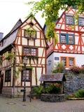 γερμανικά μισά σπίτια που εφοδιάζονται με ξύλα Στοκ Εικόνα