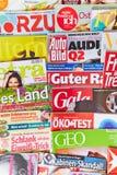 Γερμανικά περιοδικά στην παρουσίαση στοκ φωτογραφία με δικαίωμα ελεύθερης χρήσης