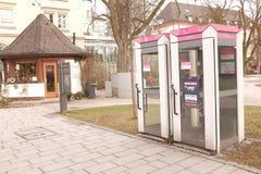 Γερμανικά callboxes Στοκ εικόνα με δικαίωμα ελεύθερης χρήσης