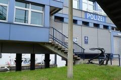 Γερμανική αστυνομία ποταμών Στοκ εικόνα με δικαίωμα ελεύθερης χρήσης