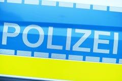 γερμανική αστυνομία στοκ φωτογραφία με δικαίωμα ελεύθερης χρήσης