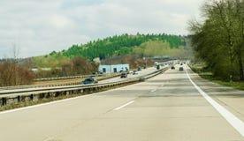 Γερμανική εθνική οδός autobahn Στοκ Φωτογραφίες