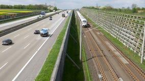 Γερμανική εθνική οδός, πλησιάζοντας τραίνο ICE απόθεμα βίντεο