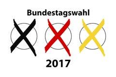 Γερμανική εκλογή 2017 διανυσματική απεικόνιση