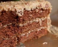 Γερμανική κινηματογράφηση σε πρώτο πλάνο κέικ σοκολάτας Στοκ εικόνες με δικαίωμα ελεύθερης χρήσης