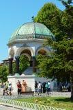 Γερμανική πηγή στην πλατεία Ahmet σουλτάνων Στοκ Εικόνα