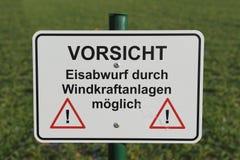 γερμανική προειδοποίηση σημαδιών Στοκ Εικόνες