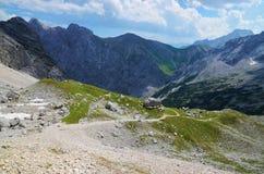 Γερμανική σειρά βουνών απόμακρων πιθανοτήτων Στοκ εικόνα με δικαίωμα ελεύθερης χρήσης