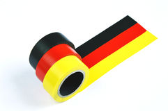 Γερμανική σημαία με την ταινία αγωγών Στοκ φωτογραφίες με δικαίωμα ελεύθερης χρήσης