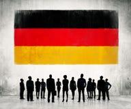 Γερμανική σημαία Στοκ Εικόνες