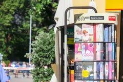 Γερμανική στάση βιβλίων Στοκ Φωτογραφία