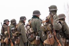 Γερμανικοί στρατιώτες Στοκ Φωτογραφίες