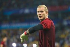 Γερμανικός επαγγελματικός ποδοσφαιριστής Loris Karius στοκ φωτογραφία