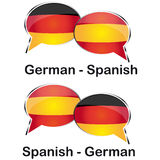 Γερμανικός ισπανικός μεταφραστής Στοκ φωτογραφία με δικαίωμα ελεύθερης χρήσης