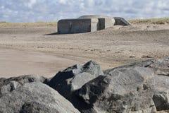 Γερμανικός παγκόσμιος πόλεμος 2 αποθήκη κοντά σε Agger, Δανία στοκ εικόνα