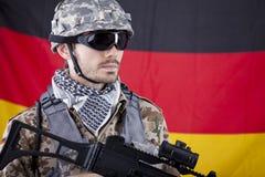 γερμανικός στρατιώτης του ΝΑΤΟ στοκ εικόνες