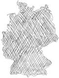γερμανικός χάρτης Στοκ Εικόνες