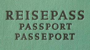 Γερμανικό διαβατήριο ταξιδιού Στοκ Φωτογραφία