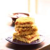 Γερμανικό κέικ αποκαλούμενο Streuselkuchen Στοκ Φωτογραφίες