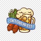 Γερμανικό πιό oktoberfest λογότυπο, ύφος κινούμενων σχεδίων ελεύθερη απεικόνιση δικαιώματος