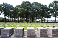 Γερμανικό πολεμικό νεκροταφείο Deutscher Soldatenfriedhof Langemark Στοκ φωτογραφία με δικαίωμα ελεύθερης χρήσης